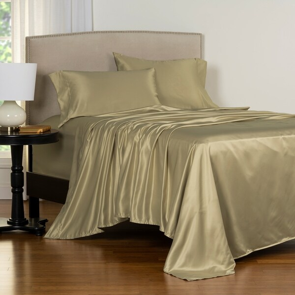 Copper Grove Clifton Luxury Satin Bed Sheet Set. Opens flyout.