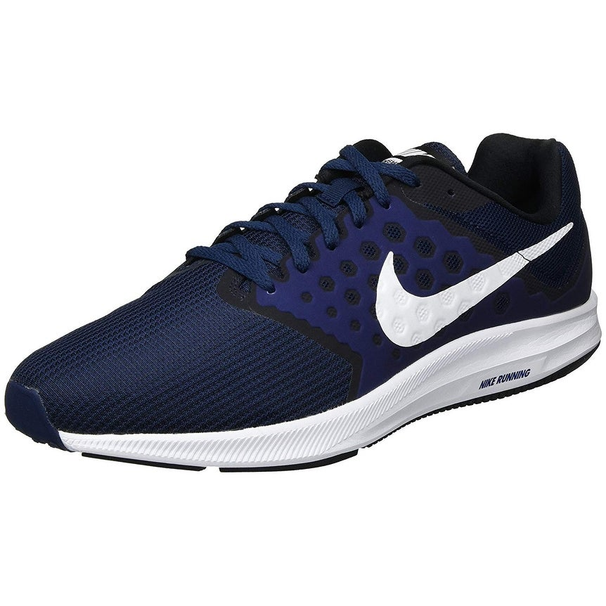 Bienes Último Incidente, evento  Nike Men Downshifter 7 Running Shoe (4E) Midnight Navy/White/Dark  Obsidian/Black Size 10.5 Wide 4E - Overstock - 25661267