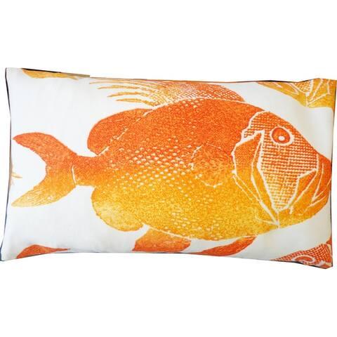 Jiti Orange Animal Tropical Sunbrella Outdoor Pillows - 12 x 20