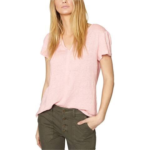 Sanctuary Clothing Womens Burnout Basic T-Shirt, Pink, Small