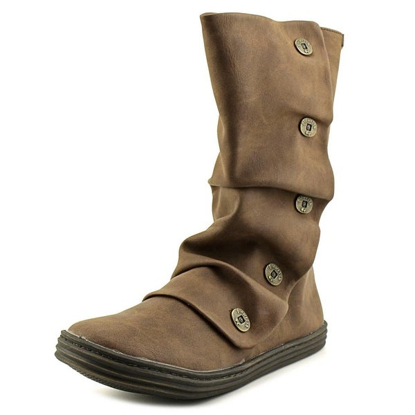 Blowfish Rammish Women Round Toe Synthetic Brown Mid Calf Boot