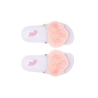 Girls Slip On, Sandals - Jojo Siwa, Fur Heart sizes 1-2-3-4-5-13