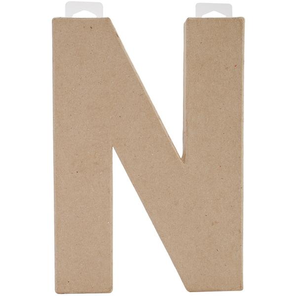 "Paper-Mache Letter 8""X5.5""-N"