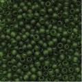 Toho Round Seed Beads 11/0 940F 'Transparent Frosted Olivine' 8 Gram Tube - Thumbnail 0