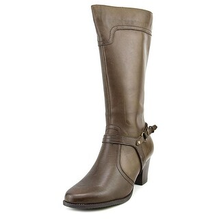 Spring Step Dominant Round Toe Leather Knee High Boot