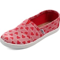 Toms Classic Girls Red Canvas