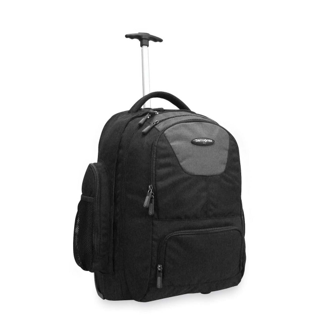 Used, Samsonite llc 17896-1053 wheeled backpack with in-line skate wheels and a telescoping for sale
