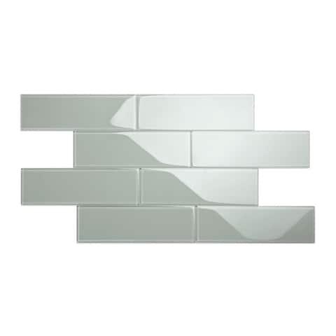 True Gray 4x12 Glass Subway Tile