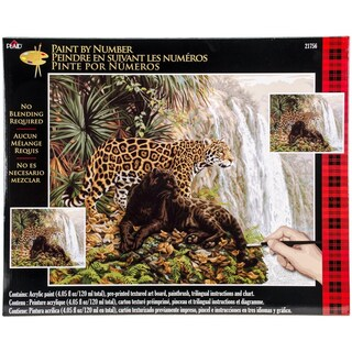 Plaid Paint by Number Kit (16 by 20-Inch), 21756 El Dorado