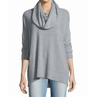 Joie NEW Light Gray Women's Size Medium M Cowl Neck High-Low Sweater