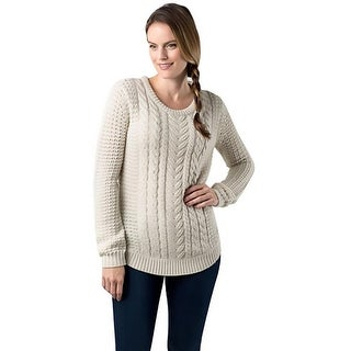 RD Style Womens Pullover Sweater Cable Knit Open Stitch