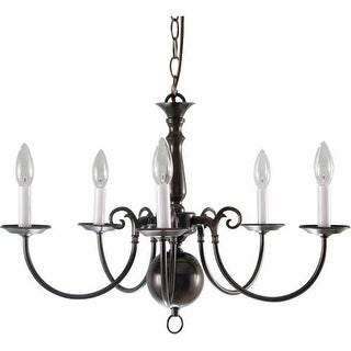 "Volume Lighting V3565 5 Light 16.75"" Height 1 Tier Chandelier"