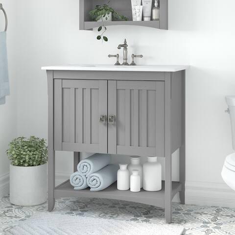 Salinas 32W Bathroom Vanity with Sink by Bush Furniture
