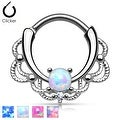 Lacey Single Opal Septum Clicker (Sold Ind.) - Thumbnail 0