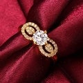 Double Gold Crystal Loop Ring - Thumbnail 3