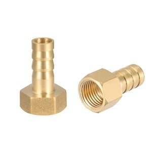 """Brass Barb Hose Fitting Connector Adapter 10mm Barbed x 1/4"""" G Female Pipe 2pcs - 1/4"""" G x 10mm"""