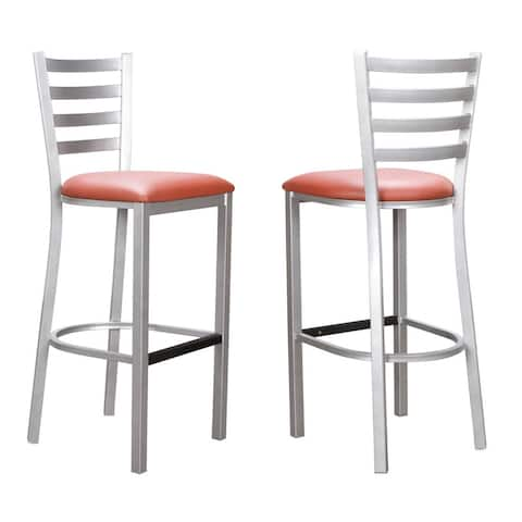 Baxter Metal 30-inch Barstool Silver (set of 2)