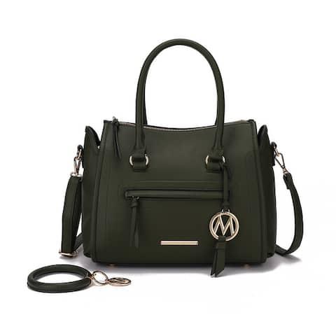 MKF Collection Valeria Satchel w/ wristlet KeyRing with M charm by Mia K.