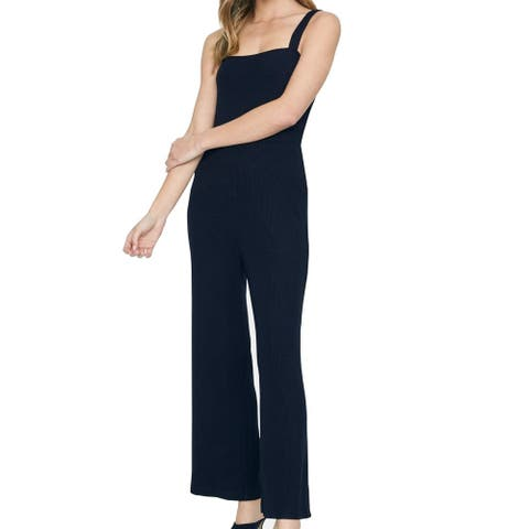 Sanctuary Women's Jumpsuit Deep Black Size Small S Ribbed Knit Tank