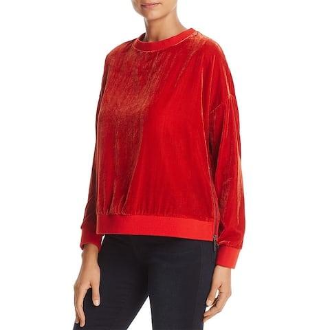 Kenneth Cole New York Womens Sweatshirt Velvet Casual