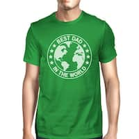 World Best Dad Mens Green Funny Graphic T-Shirt Fathers Day Gifts