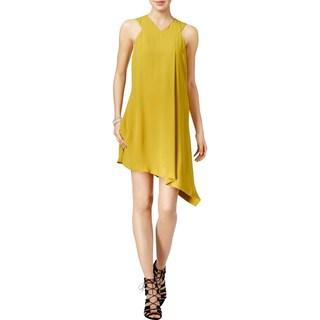Rachel Rachel Roy Womens Cocktail Dress Asymmetric Sleeveless (Option: XS - chartreuse)