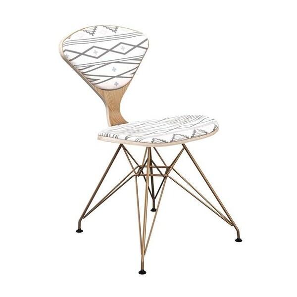 Shop Nyekoncept Natural Brass Emmet Eiffel Chair Aztec Sunrise