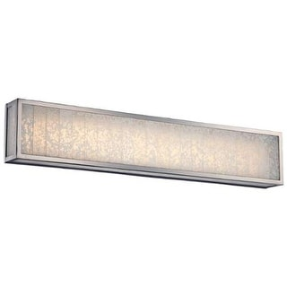 Metropolitan N1744-L 4 Light LED ADA Compliant Bathroom Bath Bar with Frosted Shades from the Lake Frost Collection