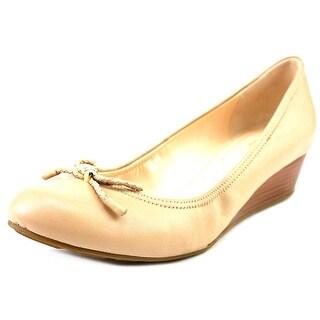 Cole Haan Tali Grand Lac Wdg 40 Women Open Toe Leather Wedge Heel