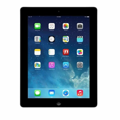 """Apple iPad 4 MD511LL/A 32GB Apple A6X X2 1.4GHz 9.7"""", Black (Refurbished) - Not Specified"""
