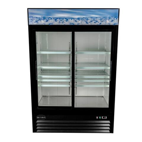 SABA SM-45RS - Two Glass Sliding Door Commercial Merchandiser Cooler