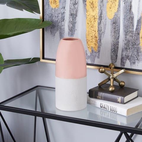 Pink Ceramic Modern Vase 11 x 5 x 5 - 5 x 5 x 11