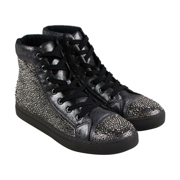 03ff85fad40 Steve Madden Crescent Mens Gray Leather High Top Lace Up Sneakers Shoes