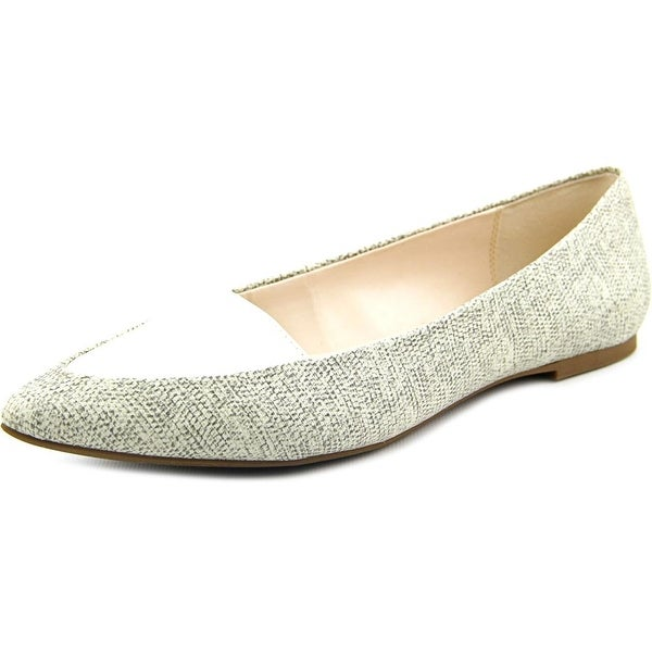 Alfani Lawrent Women Pointed Toe Synthetic Ivory Flats
