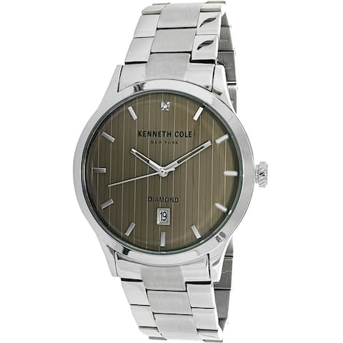 Kenneth Cole Men's Casual watch Silver Stainless-Steel Plated Fashion