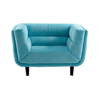Cyan Design Voyager Chair Voyager 30.5 Inch Tall Wood and Foam Arm Chair - Blue