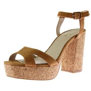 Shellys London Womens Dee Suede Heels Platform Sandals