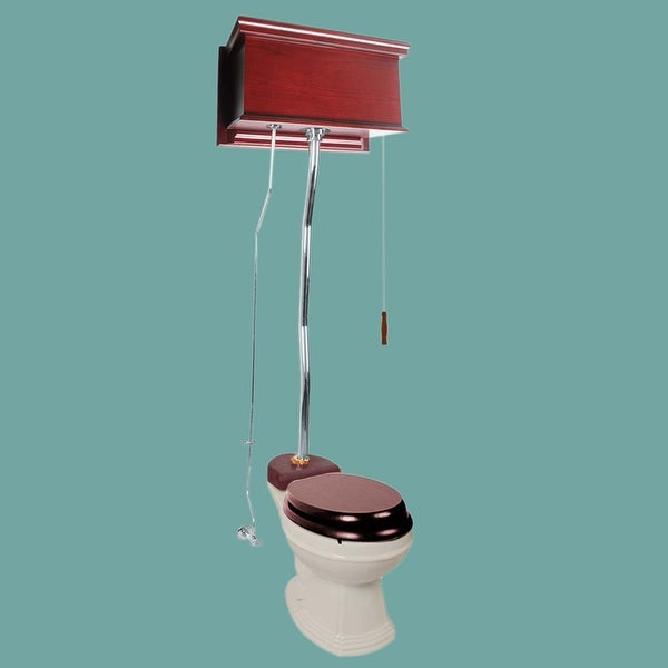 Cherry High Tank Z-Pipe Toilet Elongated Biscuit Bowl
