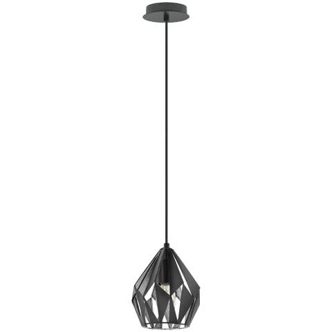 Eglo Carlton 3 Black and Silver 1-Light Geometric Pendant