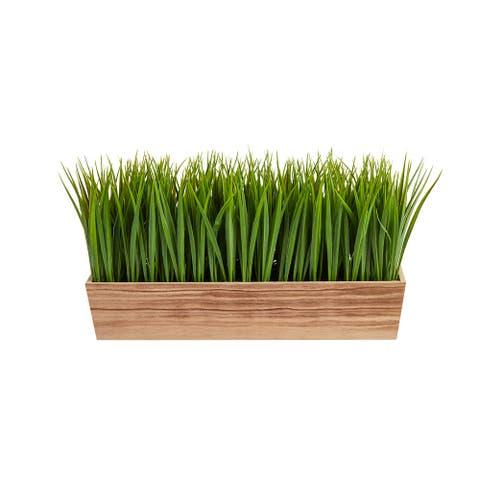 """20"""" Vanilla Grass Artificial Plant in Decorative Planter - 3.25"""""""
