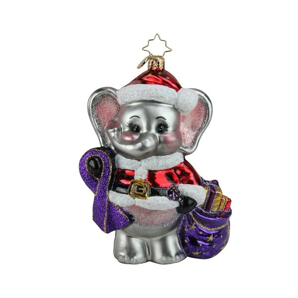 Christopher Radko Precious Moments Christmas Ornament #1019442 - PURPLE