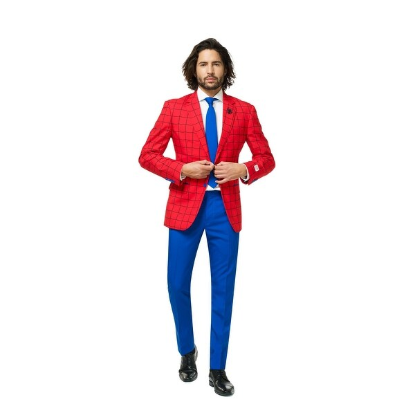 Red and Blue Spider-Man Men Adult Suit - Large