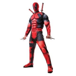Mens Deluxe Deadpool Marvel Halloween Costume