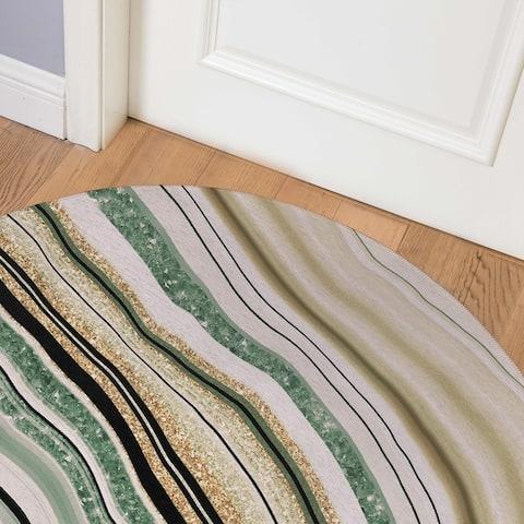 AGATE GREEN Indoor Floor Mat By Marina Gutierrez