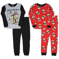 Minecraft Iron Golem DIY Boys' 4-Piece Pajama Sleepwear Set