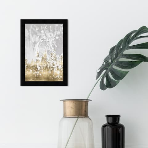 Oliver Gal 'Our Moment' Abstract Framed Wall Art Prints Paint - Gold, Gray