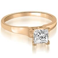 0.50 cttw. 14K Rose Gold Stylish V-Prong Solitaire Diamond Engagement Ring
