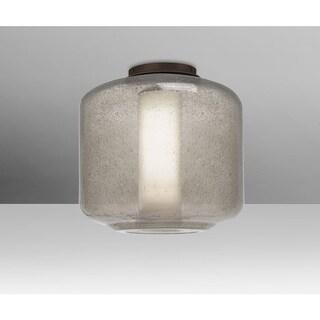 "Besa Lighting NILES10SOC Niles Single Light 9-1/2"" Wide Semi Flush Ceiling Fixtu"