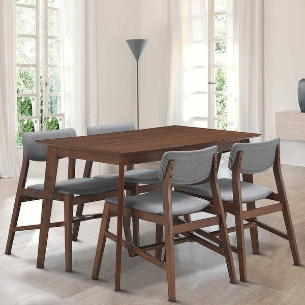 Shop Gymax 5 PCS Mid Century Modern Dining Table Set Kitchen ...