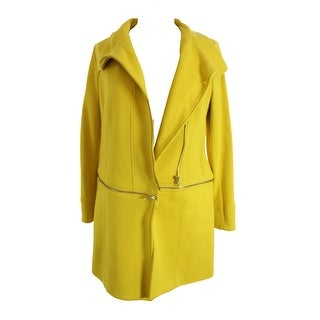 Inc International Concepts Yellow Two-Way Long Or Cropped Coat M